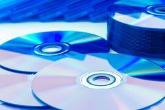 特写镜头雷射唱片(CD/DVD) 库存图片