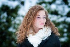 特写镜头青少年的女孩 免版税库存照片