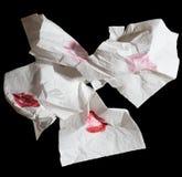 特写镜头餐巾堆射击 免版税图库摄影