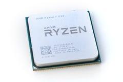 特写镜头AMD Ryzen 7 1700 CPU 库存照片
