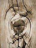 特写镜头Knothole葡萄酒木板条地板谷仓书桌 免版税库存照片