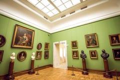 特列季尤欣画廊在莫斯科 内部 库存图片