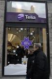 特利亚和TELENOR决定合并一 免版税库存照片