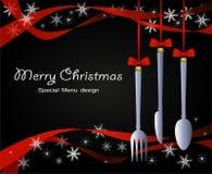 特别圣诞节菜单 库存图片