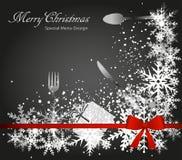 特别圣诞节菜单 免版税图库摄影