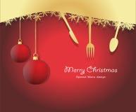 特别圣诞节菜单 免版税库存照片