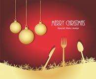 特别圣诞节菜单 库存照片