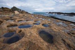 特别地形在台湾北海岸的野柳公园 免版税库存照片