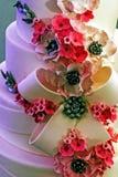特别地装饰的婚宴喜饼。细节33 免版税图库摄影