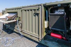 特别处理的多功能容器与发电器的驻地USSO 库存照片