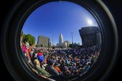 特别妇女3月事件和抗议者在洛杉矶附近 图库摄影