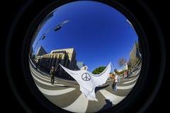 特别妇女3月事件和抗议者在洛杉矶附近 免版税库存图片