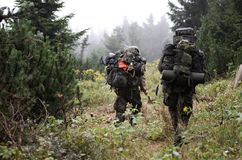 特别战士在森林里 免版税图库摄影
