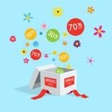 特别春天,夏天提议销售折扣标志 免版税图库摄影