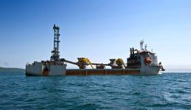 特别船威廉在船锚的de Vlaming在不冻港海湾  不冻港海湾 东部(日本)海 01 06 2012年 库存图片