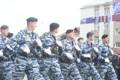 特别警察OMON 免版税库存图片