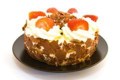 特制的糕饼草莓 库存图片