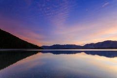 特卡波湖日出 库存照片