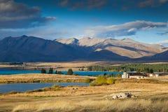 特卡波湖,新西兰 免版税库存照片