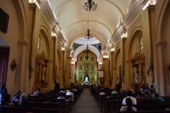特古西加尔巴,洪都拉斯大教堂的内部  免版税图库摄影