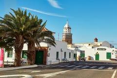 特吉塞镇,兰萨罗特岛海岛,西班牙 免版税库存图片