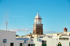 特吉塞镇,兰萨罗特岛海岛,西班牙 免版税库存照片