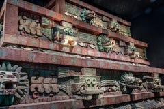 特奥蒂瓦坎寺庙复制品在人类学Museo Nacional de Antropologia, MNA -墨西哥城,墨西哥国家博物馆的  库存照片