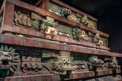 特奥蒂瓦坎寺庙复制品在人类学Museo Nacional de Antropologia, MNA -墨西哥城,墨西哥国家博物馆的  免版税库存照片