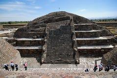 特奥蒂瓦坎考古学站点,墨西哥 库存照片