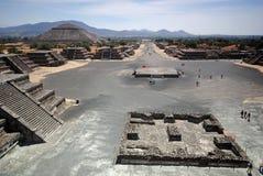 特奥蒂瓦坎考古学站点,墨西哥 免版税库存图片