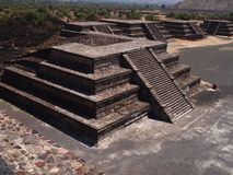 特奥蒂瓦坎,墨西哥,在阿兹台克文化之前的古老哥伦布发现美洲大陆以前文明 免版税图库摄影