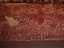 特奥蒂瓦坎,墨西哥,在阿兹台克文化之前的古老哥伦布发现美洲大陆以前文明 库存照片