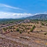 特奥蒂瓦坎,阿兹台克废墟,墨西哥 免版税图库摄影