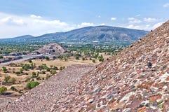 特奥蒂瓦坎,阿兹台克废墟,墨西哥 库存照片