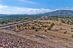 特奥蒂瓦坎,阿兹台克废墟,墨西哥 免版税库存照片