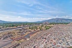 特奥蒂瓦坎,阿兹台克废墟,墨西哥 免版税库存图片