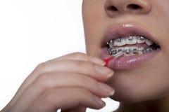 特定牙刷 免版税库存图片