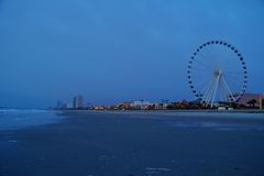 默特尔海滩地平线 免版税图库摄影