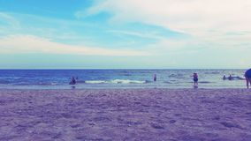 默特尔海滩,南卡罗来纳-水 免版税库存照片