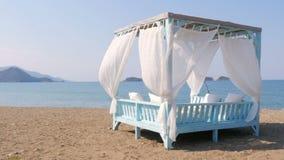费特希耶,火鸡,庄严夏天旅行目的地,华美的海滩海视图 股票视频
