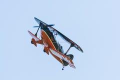 特技双翼飞机Pitts S-2A 库存图片