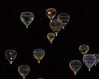 特技效果气球小组在亚伯科基 库存照片