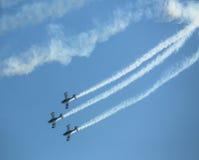 特技队,在国际航空航天陈列ILA柏林空气展示2014期间的示范 库存照片