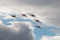 特技L-39航空器 图库摄影