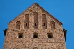 特拉凯城堡的塔在维尔纽斯附近的 库存照片