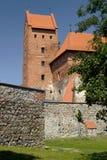 特拉凯城堡的塔 免版税库存图片