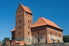 特拉凯城堡的宫殿 库存照片