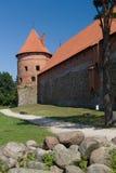 特拉凯城堡的本营 库存图片