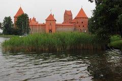 特拉凯海岛城堡 免版税库存图片