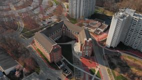 特拉华大学美国,纽瓦克的天线 影视素材